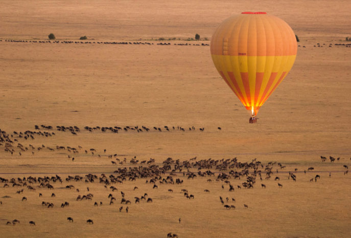 Hot Air Balloon in Masai Mara